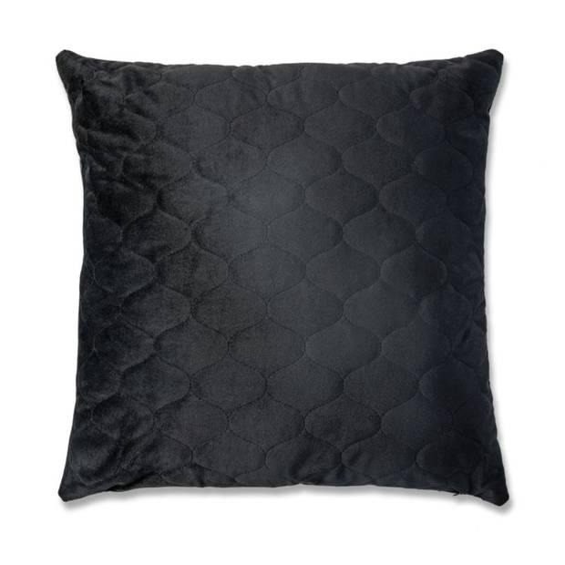 Blokker kussen Montgomery - zwart - 45x45 cm