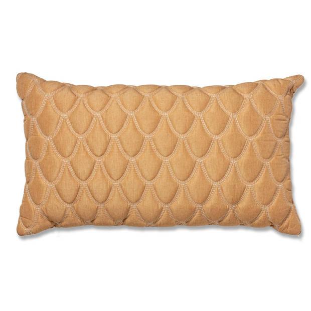 Blokker kussen Camarillo - beige - 60x35 cm
