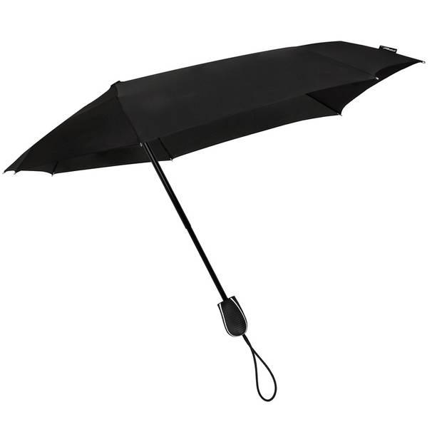 STORMini opvouwbare storm paraplu zwart 100 cm - Mini stormparaplu