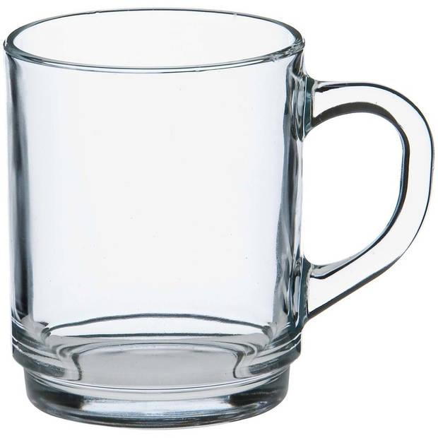 24x Theeglazen/koffieglazen Versailles transparant 250 ml