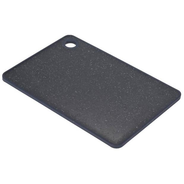 Snijplank zwart gemeleerd 23 cm - Snijplanken voor groente, fruit, vlees en vis - Keuken/kookbenodigdheden