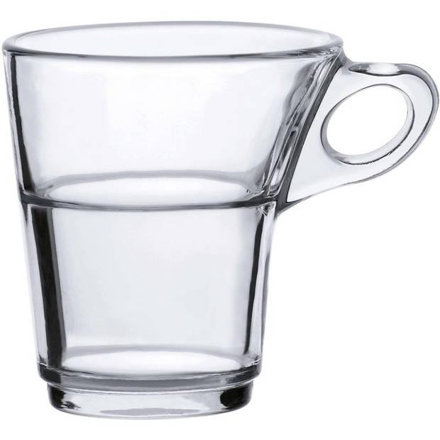 12x Espresso glazen Caprice transparant 90 ml - Koffie/espresso kopjes van glas