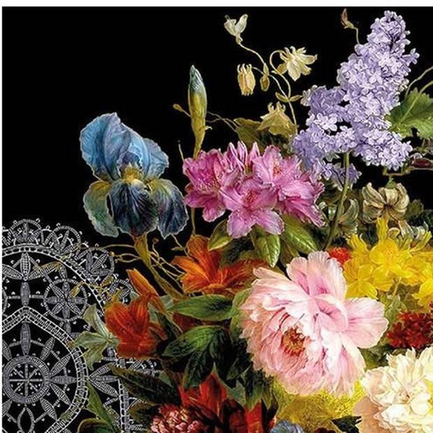 20x Bloemen stilleven servetten 33 x 33 cm - Papieren tafeldecoraties - Papieren wegwerpservetten 3-laags