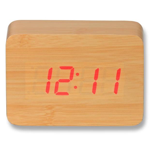 Blokker wekker Skylar - 10x4x7 cm