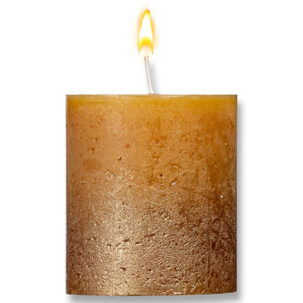 Blokker kaars ombré - oker goud - 8x7cm