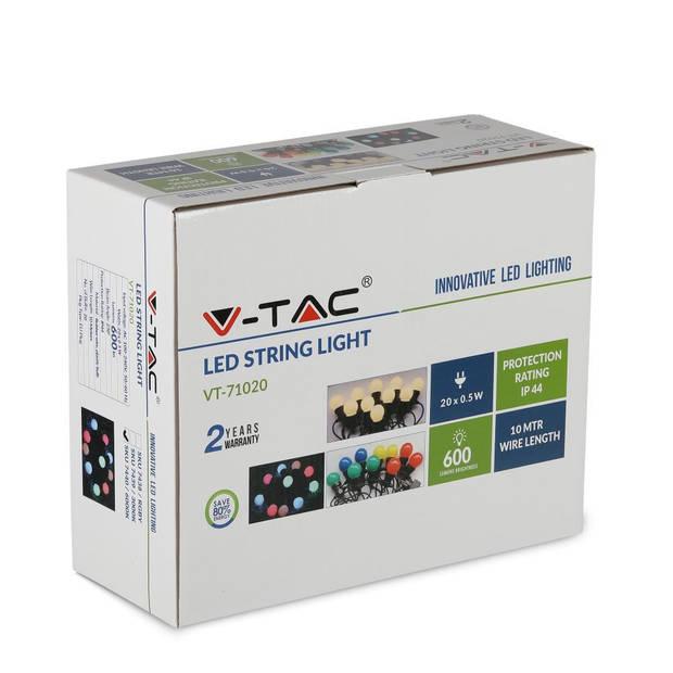 V-tac VT-71020 Lichtsnoer - Waterdicht - 20 LED Lampen - 3000K - 10M