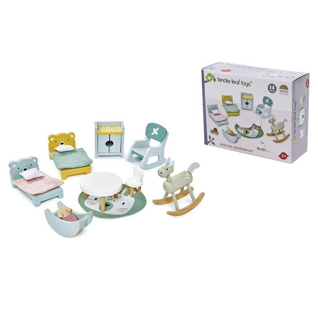 Tender Leaf Toys poppenhuis kinderkamer junior 14-delig