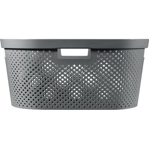 Curver Infinity Dots wasmand - 40L - grijs