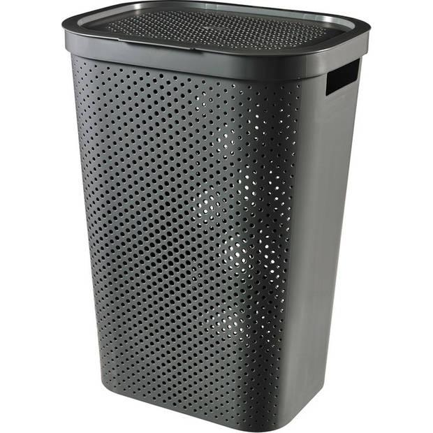 Curver Infinity Dots wasbox - 60L - grijs