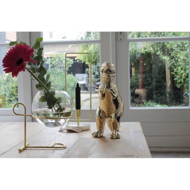 Housevitamin bolvaasje scheikunde glas en metaal 19cm hoog