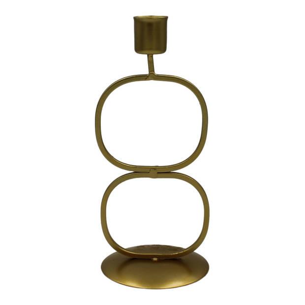 Housevitamin kandelaar '2 cirkels' - kaarsenhouder / kaarsenstandaard kerst - goud