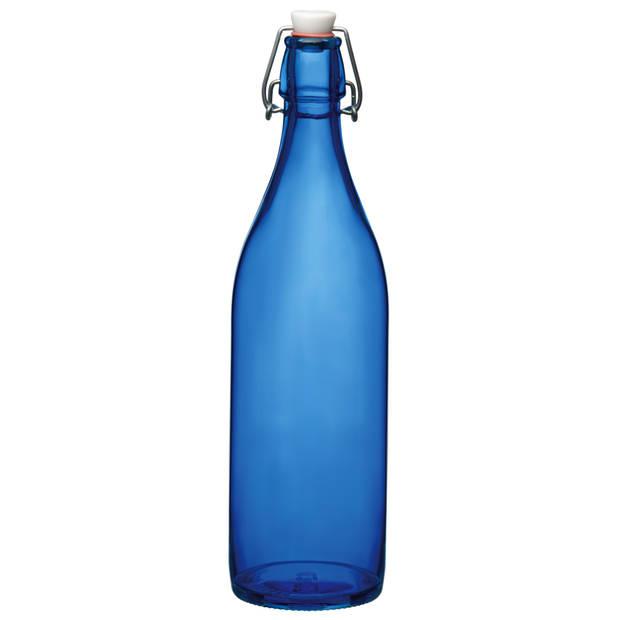 Bormioli Beugelfles Giara Donkerblauw 1 Liter