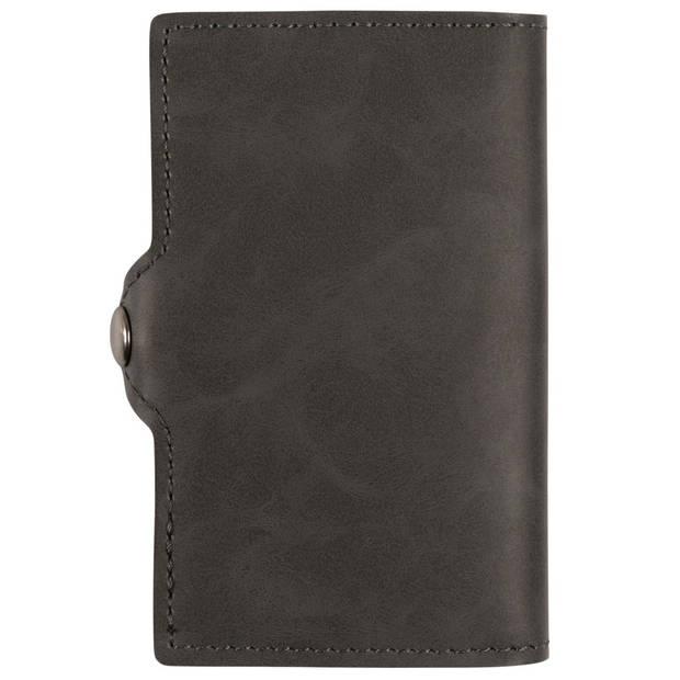 Silvergear Pasjeshouder Portemonnee - Heren en Dames - Smart Wallet - PU Leer - Grijs
