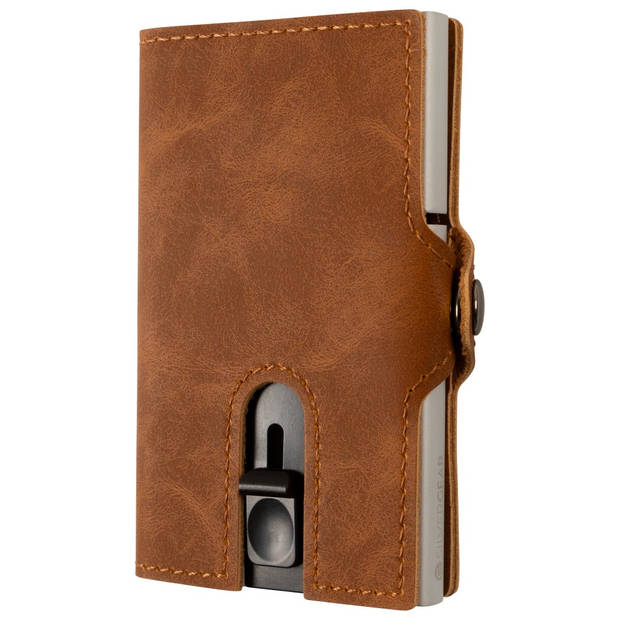 Silvergear Pasjeshouder Portemonnee - Heren en Dames - Smart Wallet - PU Leer - Bruin