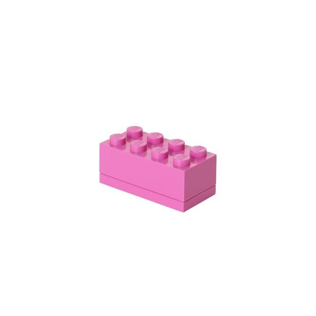 Set van 6 - Opbergbox Mini 8, Roze - LEGO