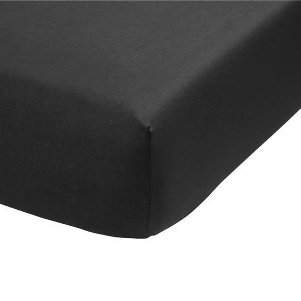 Ambiante percaline katoen topper hoeslaken - 100% percaline katoen - 1-persoons (90x200 cm) - Antraciet