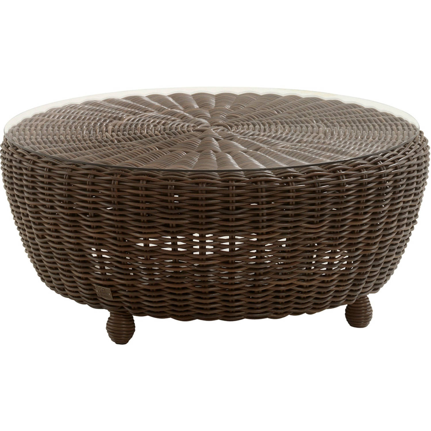 Madoera Coffeetable 100cm Rond Colonial