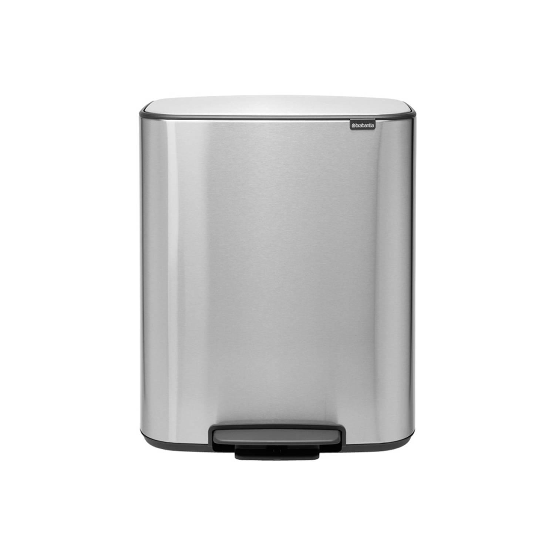 Brabantia Bo Pedaalemmer 2 X 30 Liter Met 2 Kunststof Binnenemmer - Matt Steel Fingerprint Proof