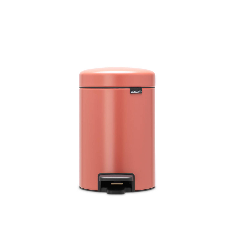 Korting Brabantia newIcon pedaalemmer 3 liter met kunststof binnenemmer Terracotta Pink