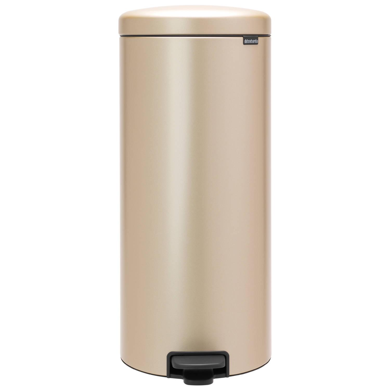 Korting Brabantia newIcon pedaalemmer 30 liter met kunststof binnenemmer Champagne