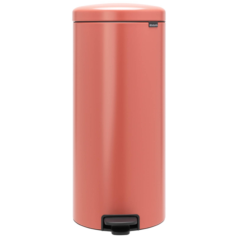 Korting Brabantia newIcon pedaalemmer 30 liter met kunststof binnenemmer Terracotta Pink