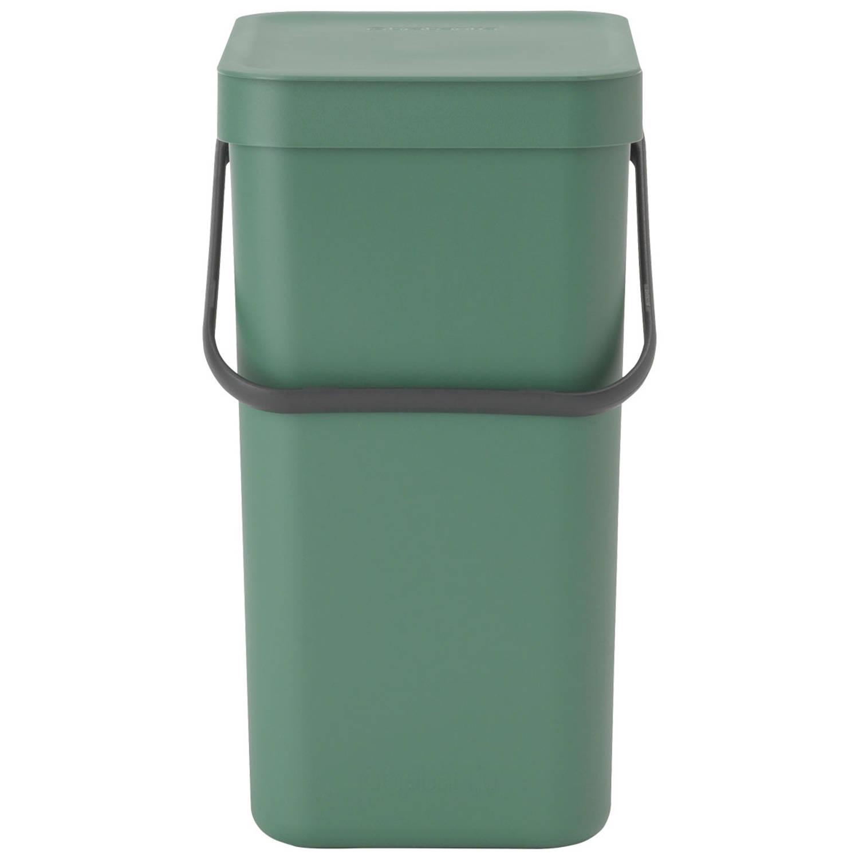 Brabantia Sort & Go Afvalemmer 12 Liter - Fir Green