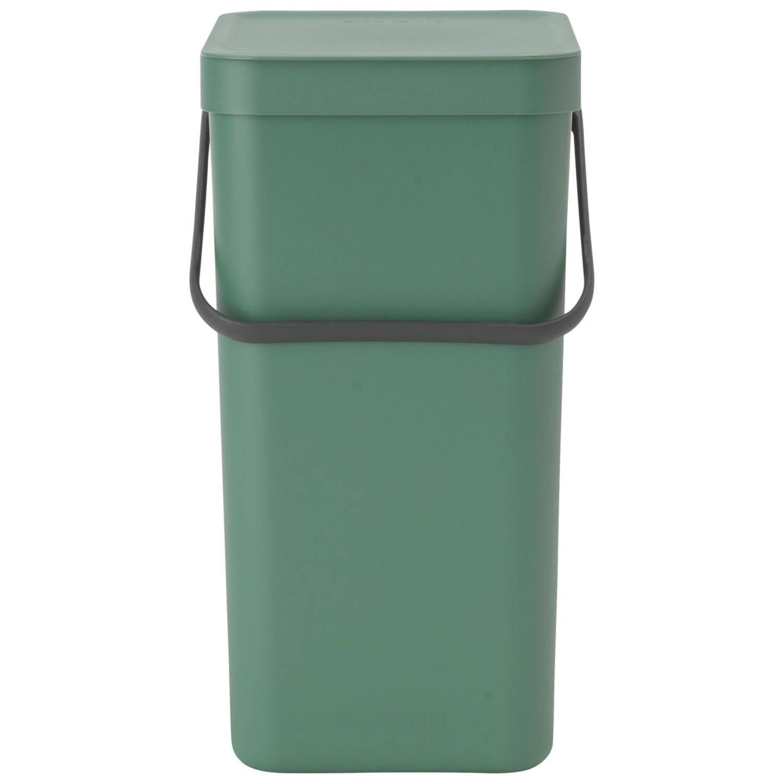 Korting Brabantia Sort en Go afvalemmer 16 liter Fir Green