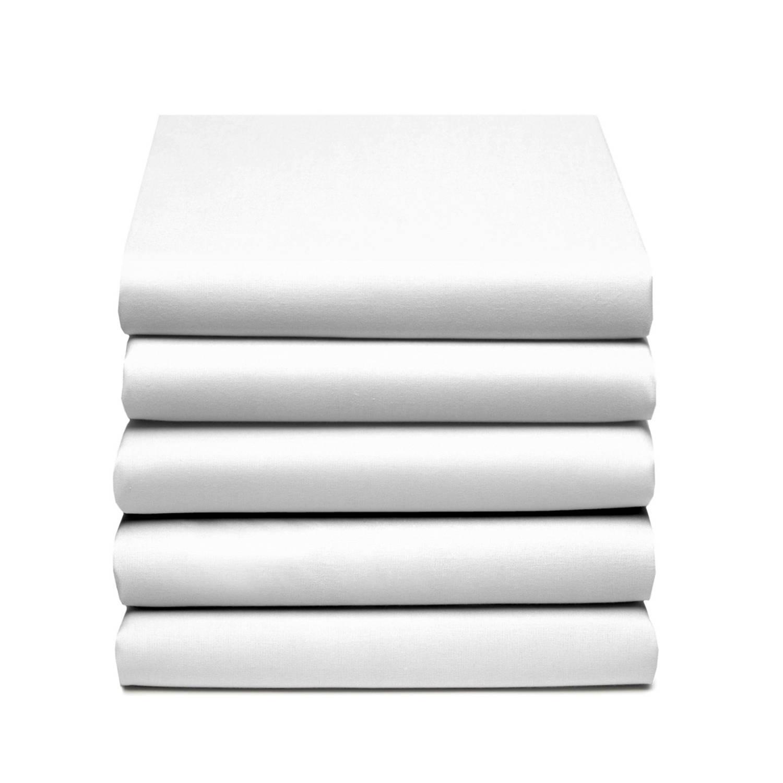 Damai/nightkiss Topper Hoeslaken Katoen Wit (15cm)-100 X 210 Cm