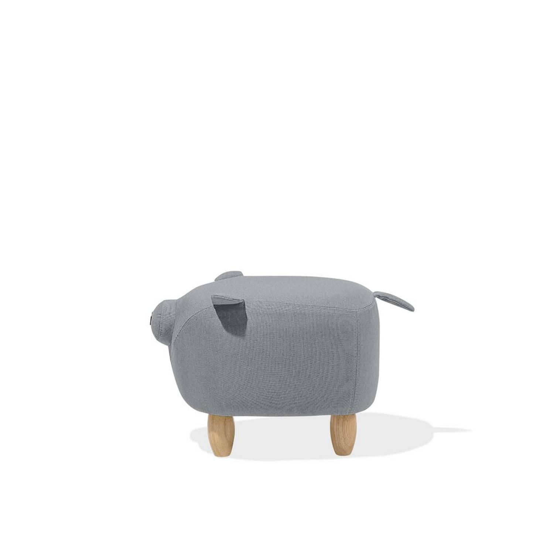 Korting Beliani Piggy Hocker grijs polyester