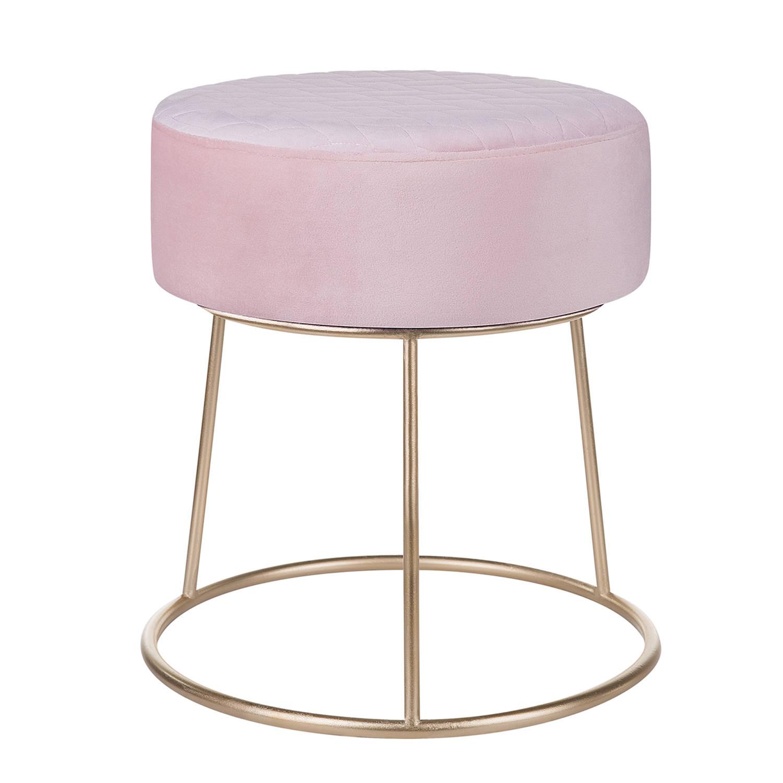 Korting Beliani Delco Hocker roze fluweel