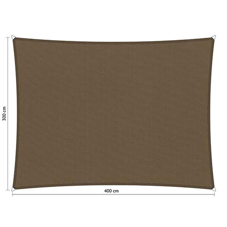 Shadow Comfort waterafstotend rechthoek 3x4 Taupe