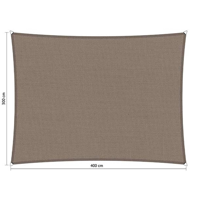 Shadow Comfort waterafstotend rechthoek 3x4 Stonegrey