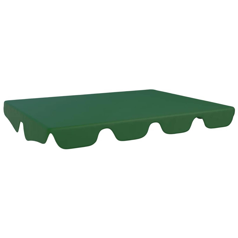 vidaXL Vervangingsluifel voor schommelbank 192x147 cm groen