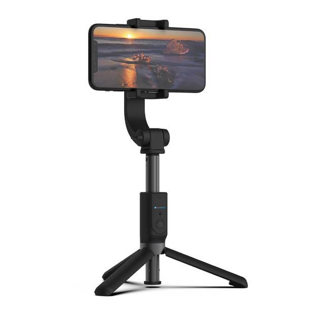 Silvergear Handheld Gimbal Stabilizer - Selfie Stick Tripod - Bluetooth Stabilisator voor Smartphones - Zwart
