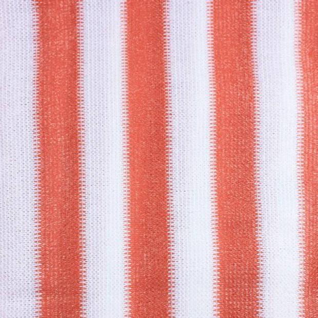 Hanse® Duurzaam Balkonscherm - Kleur Terracotta/Wit - Balkondoek - 500x90cm