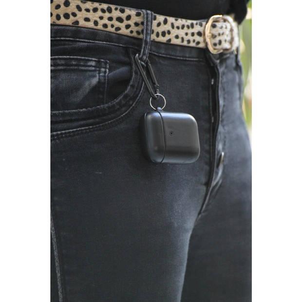 Silvergear Apple AirPods Hoesje - Zwart - Bescherming Case - Leer - Voor Apple AirPods en AirPods 2