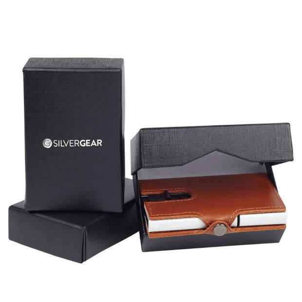 Silvergear Leder Pasjeshouder Portemonnee - Bruin - RFID Anti-skim Bescherming