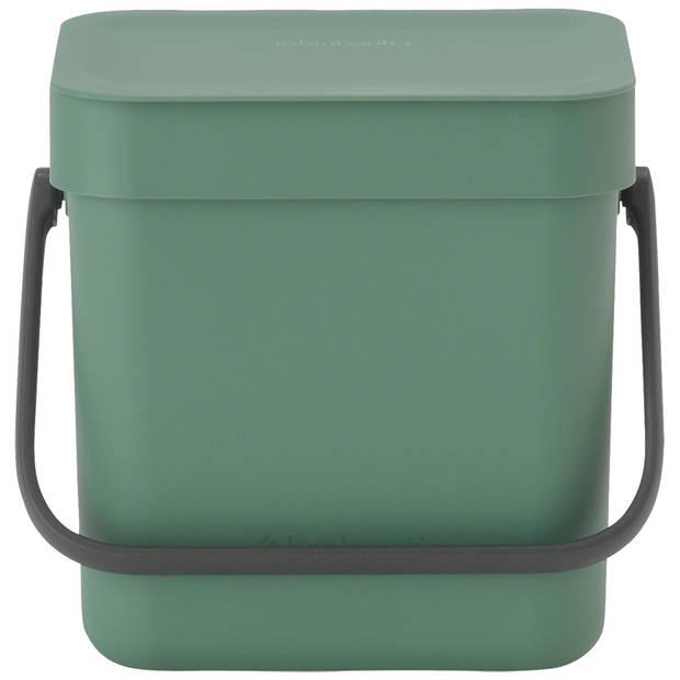 Brabantia Sort & Go afvalbakje 3 liter - Fir Green