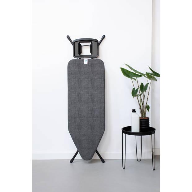 Brabantia Strijkplankhoes C, 124x45 cm, complete set - Denim Black