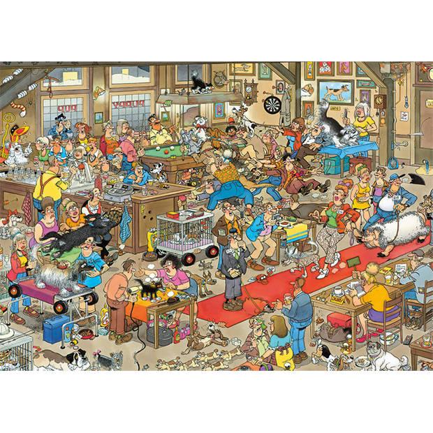 Jan van Haasteren de hondenshow 1000 stukjes + 3 gratis ansichtkaarten