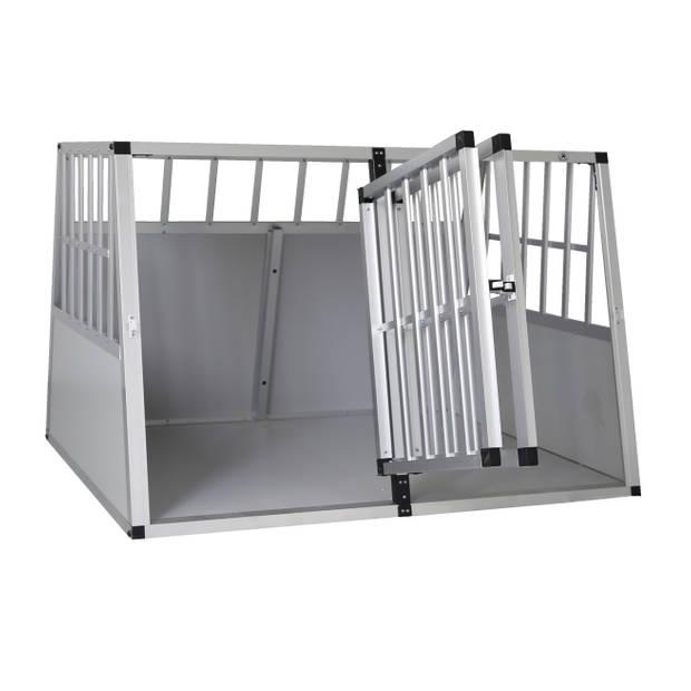 4animalz® Trapeze Silver Autobench voor Honden - 104x90x69cm Large
