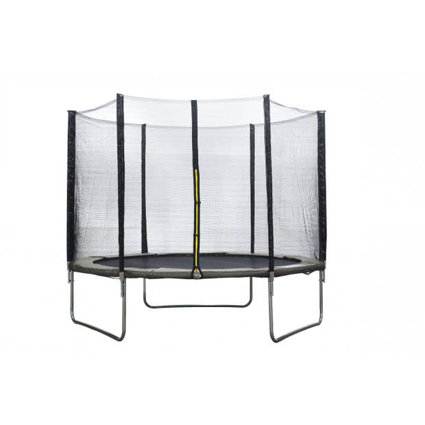 AMIGO trampoline met veiligheidsnet grijs 244 cm