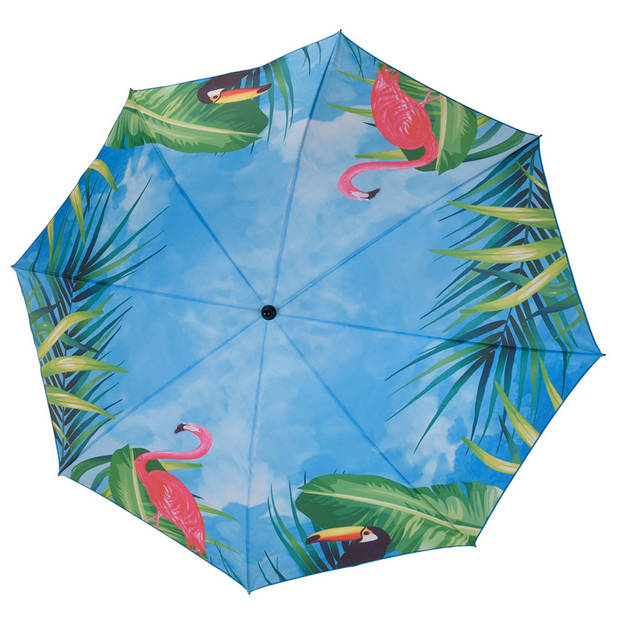 Pro Beach Parasol dierenprint blauw 152 x 142 x 200 cm 1 stuk