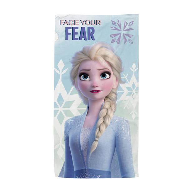 Disney Frozen strandlaken paars 140 cm