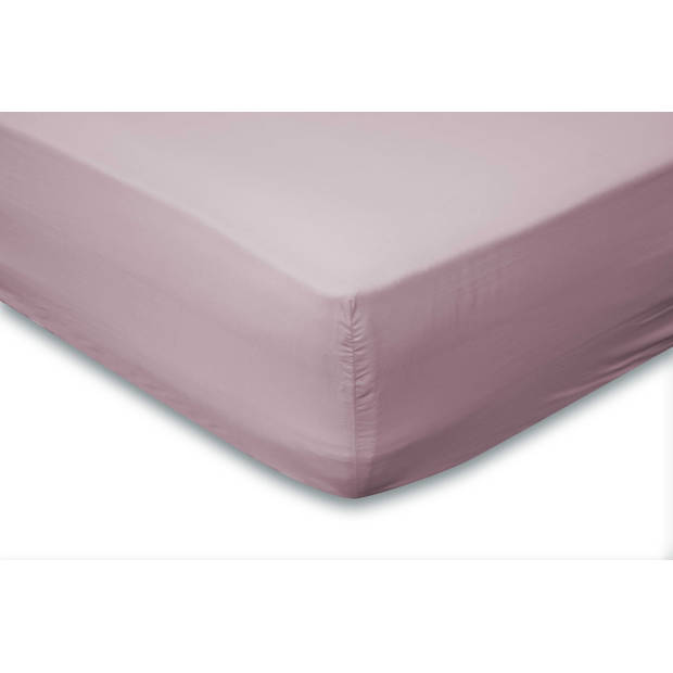 Elegance Hoeslaken Katoen Perkal 35cm Hoekhoogte - roze 120x200cm
