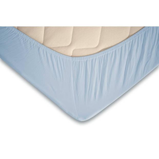 Elegance Topper Hoeslaken Jersey Katoen - licht blauw 180x210/220cm