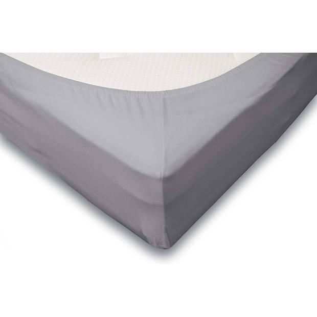 Elegance Hoeslaken Jersey Katoen Stretch 35cm Hoge Hoek - licht grijs 140x210/220cm
