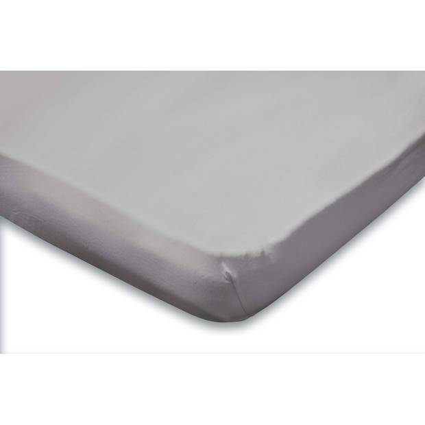 Elegance Topper Hoeslaken Jersey Katoen - licht grijs 160x200cm