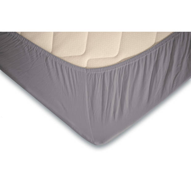 Elegance Topper Hoeslaken Jersey Katoen Stretch - licht grijs 120/130/140x200cm