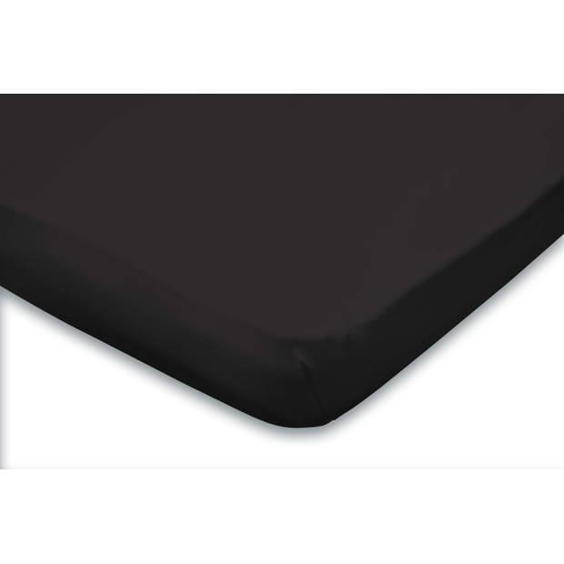 Elegance Topper Hoeslaken Jersey Katoen - zwart 180x200cm
